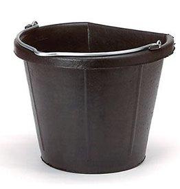 Rubber Flat Back Bucket, 18QT