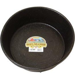 Black Rubber Pan Feeder, 8 qt