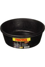 Fortex Black Rubber Pan Feeder 4 qt