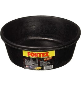 Fortex Black Rubber Pan Feeder 4 qt