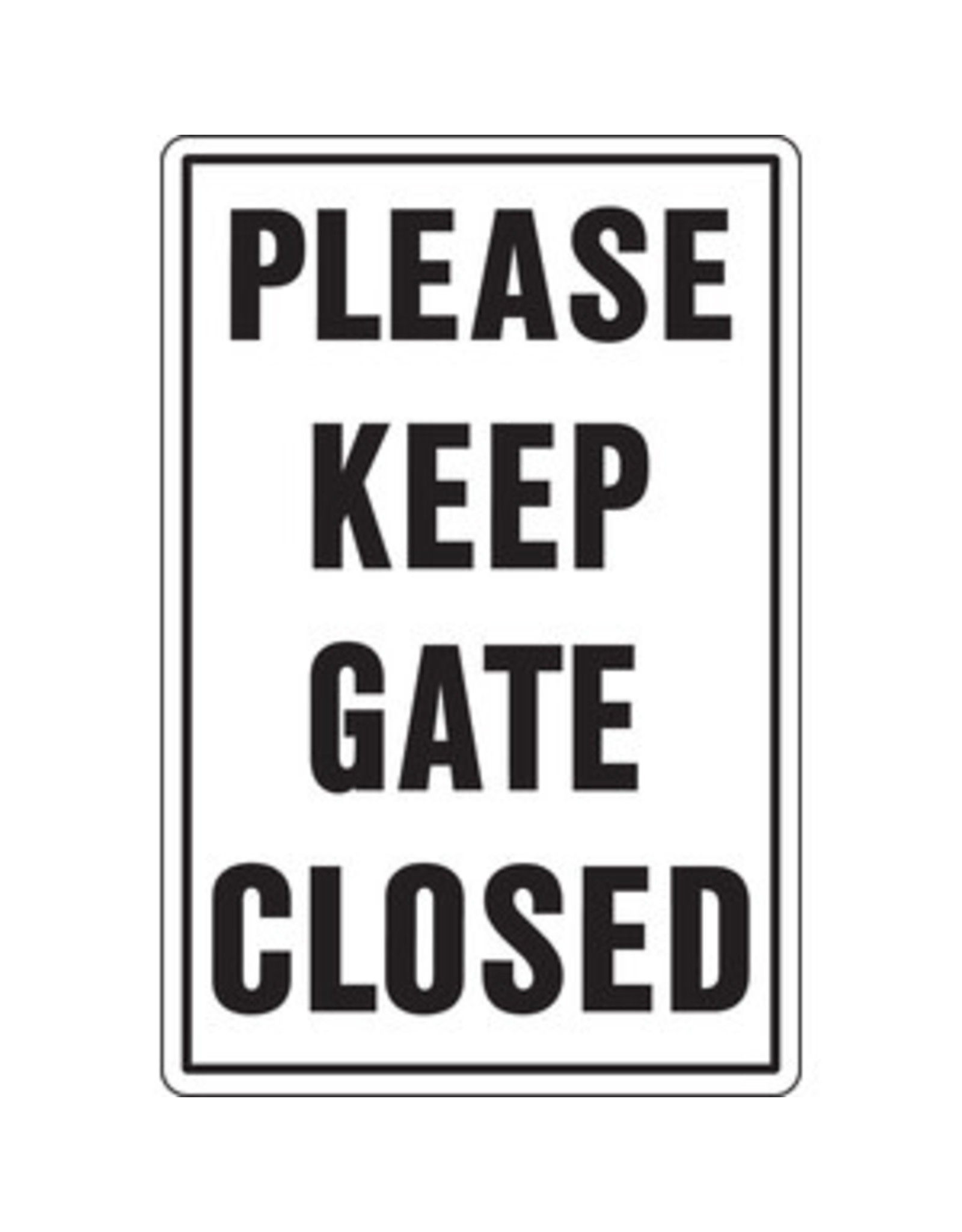 Sign, Please Keep Gate Closed