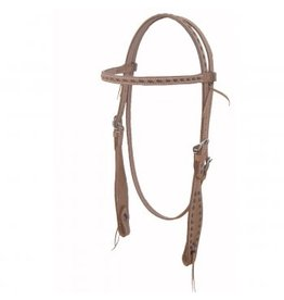2002LT  Headstall, Brow Band Rough Out Buckstitch