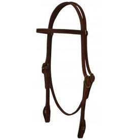 ARH200Q Headstall, Browband Plain Leather