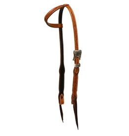 40804A Headstall, SE Floral Scal w/Eng Buckle