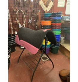 "Best Ever Saddle Pads Best Ever OG Black 3/4"" Pink 30x30"