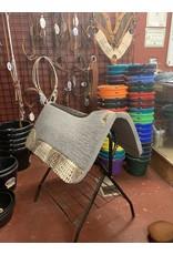 "Best Ever Saddle Pads Best Ever Gray Kush 1"" Ivory Choc Croc 32x32"