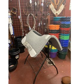 """Best Ever Saddle Pads Best Ever Gray Kush 1""""  30x30"""