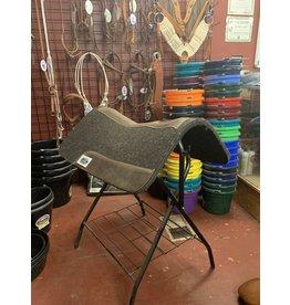 Cactus 90100A Saddle Pad, Barrel Gray Felt 3/4