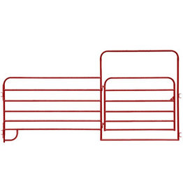 Red 12' Economy Corral Panel with 6' Entrance Gate