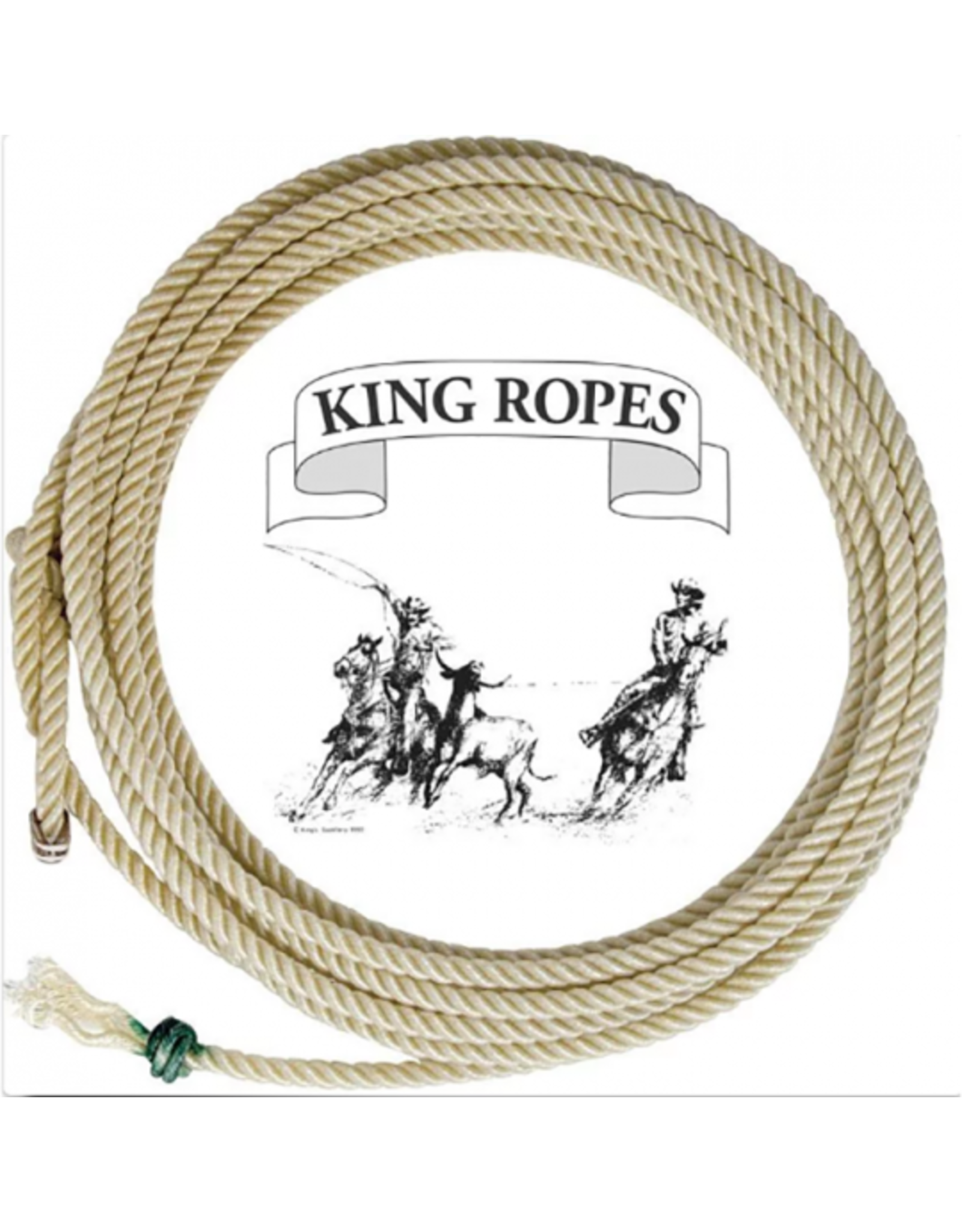King Ropes P48T28 King Ropes Poly 10.0 White Calf Rope 48THD
