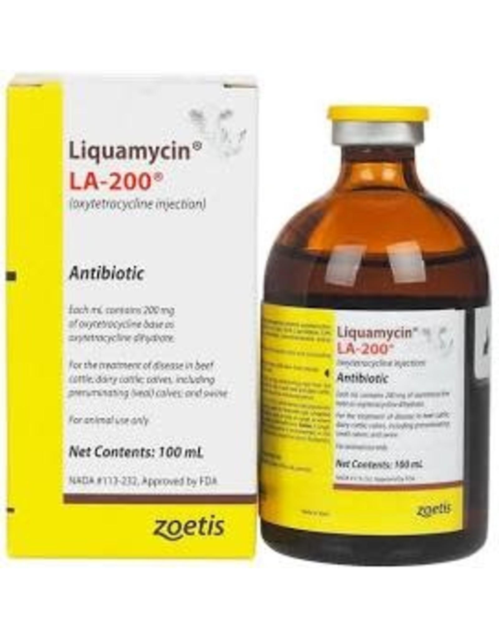 LA-200 Liquamycin Injectable Long Acting Antibiotic 100ml