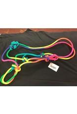 Partrade Rainbow Rope Halter Horse Size