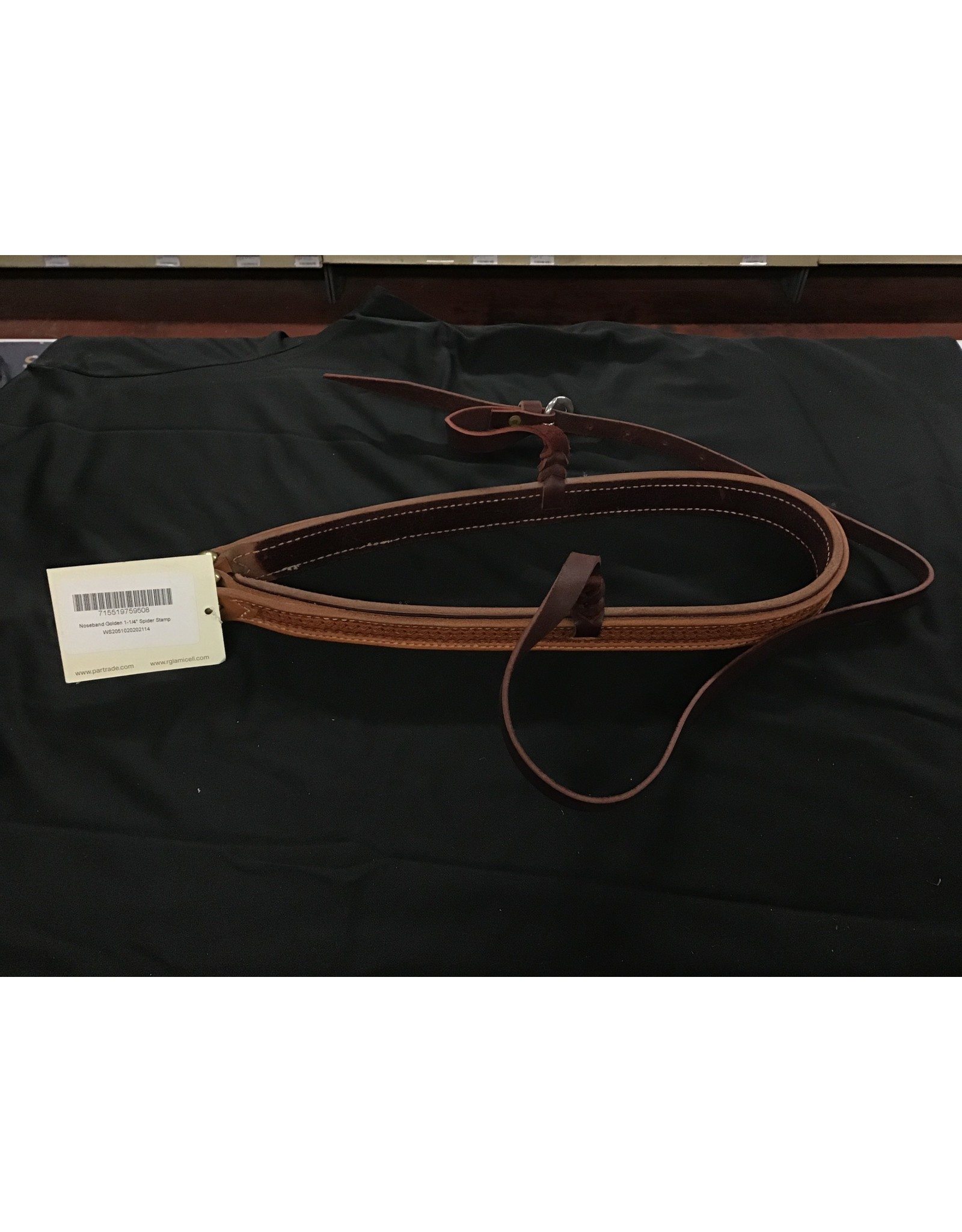Partrade Noseband, Golden Spider Leather