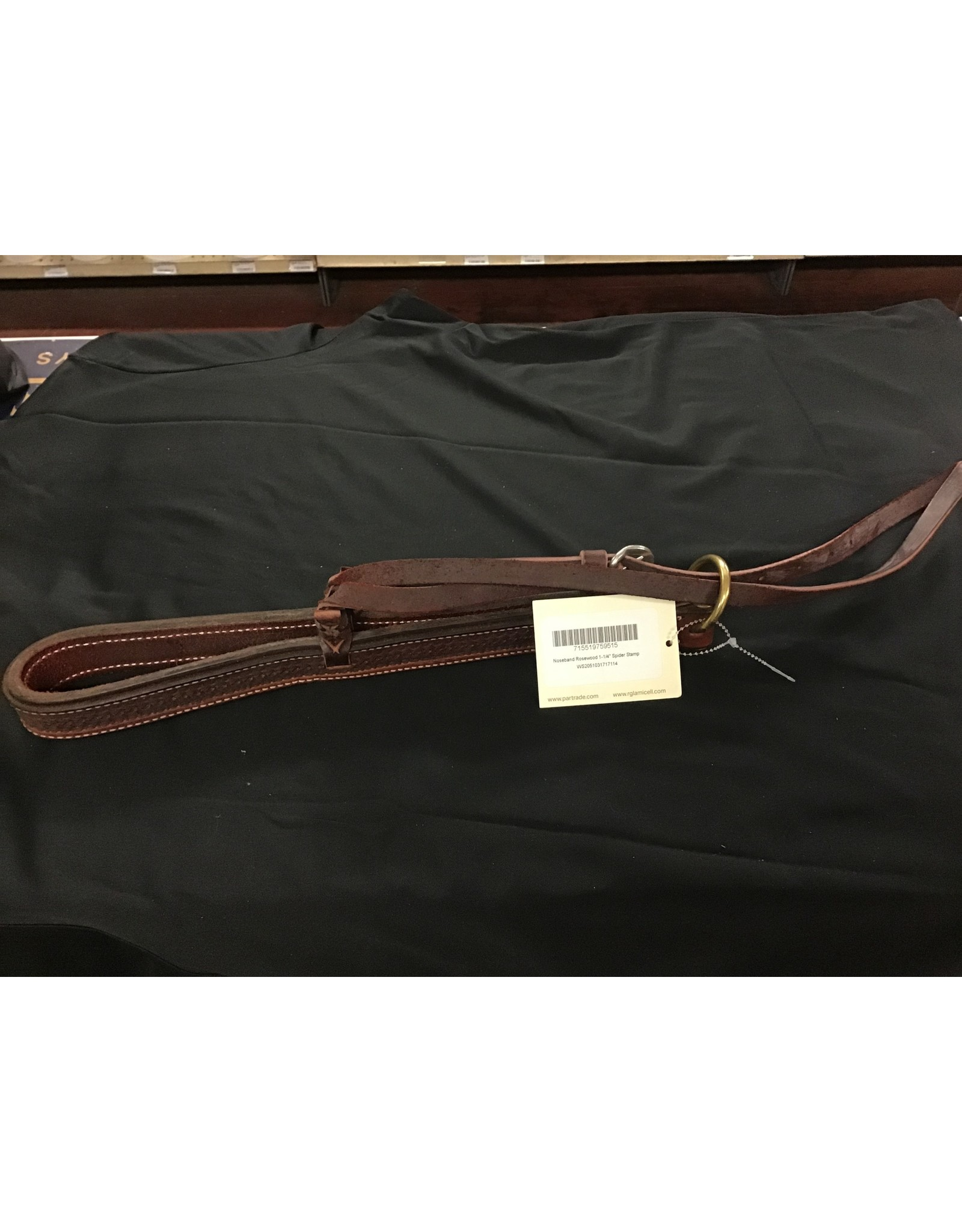 Partrade Noseband, Rosewood Spider Leather