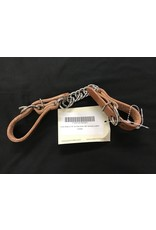 CS35H Curb Strap Flat Chain Harness Leather