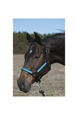 Lami-Cell Halter, Western Working Full Size Gray/Turquoise