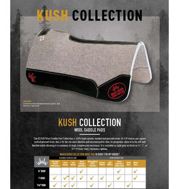 """Best Ever Saddle Pads Best Ever Gray Kush 3/4""""  30x30"""