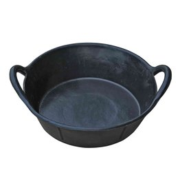 Black Rubber Pan Feeder with Handles 3 Gall