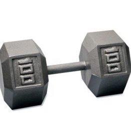 Cast Iron Hex Dumbbell - 100lb