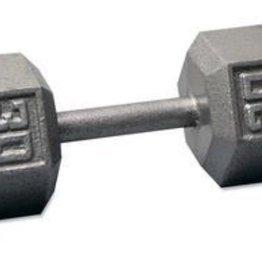 Cast Iron Hex Dumbbell - 30lb