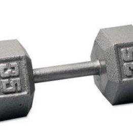 Cast Iron Hex Dumbbell - 35lb