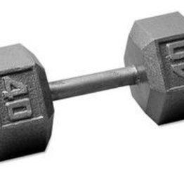 Cast Iron Hex Dumbbell - 40lb