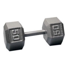 Cast Iron Hex Dumbbell - 50lb