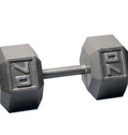 Cast Iron Hex Dumbbell - 70lb