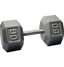 Cast Iron Hex Dumbbell - 80lb