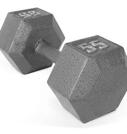 Cast Iron Hex Dumbbell - 55lb