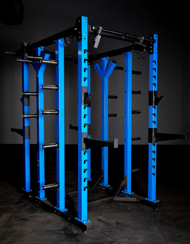 FHD4 Double Sided Power Rack Blue And Black