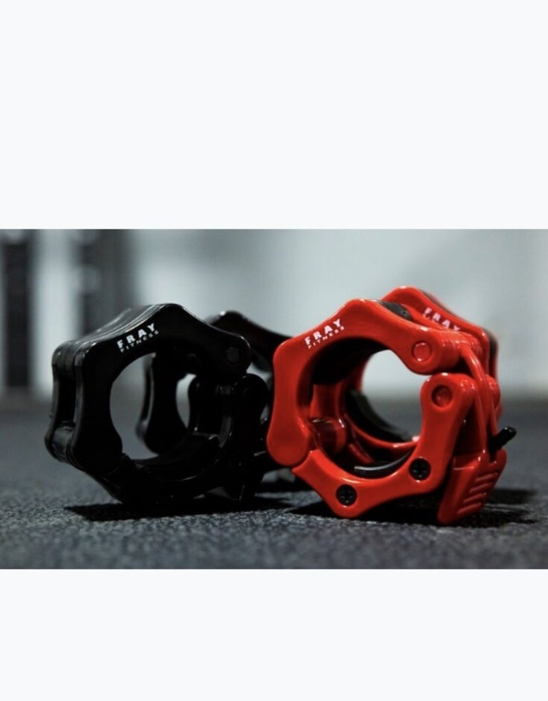 Barbell Clamp Collar Pair - Red