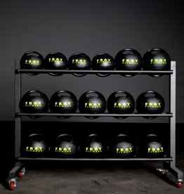 Medicine Ball Rack - 3-Row Rack on Wheels