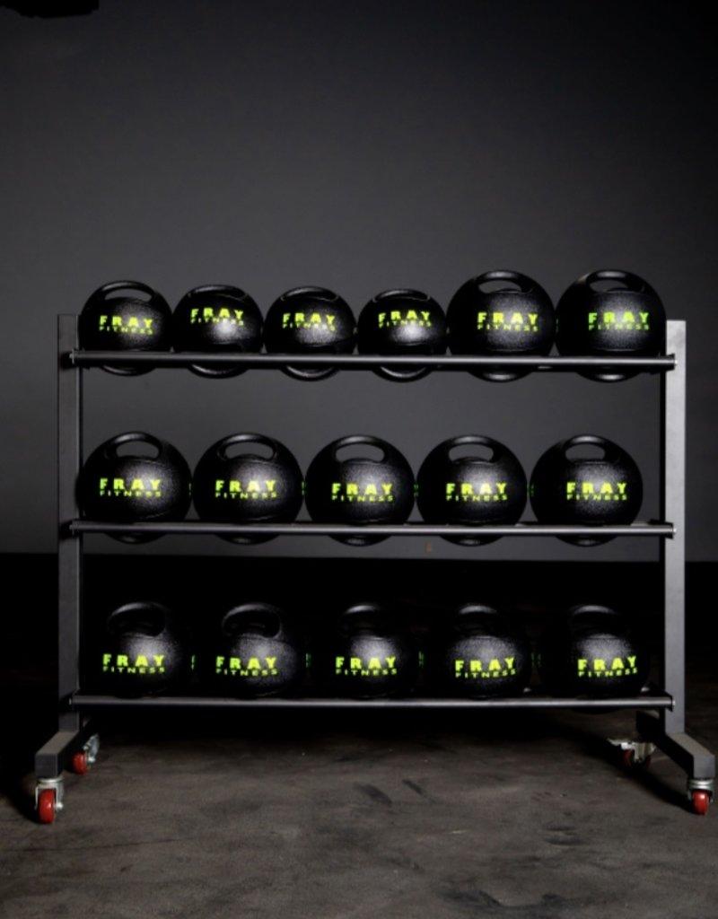 Medicine Ball Rack - 3-Row Rack on Wheels