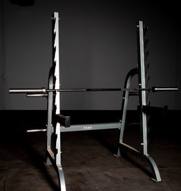 Grey And Black Squat Rack