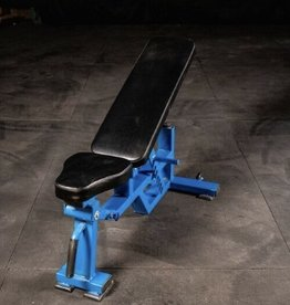 FAB-03C Commercial Adjustable Bench With Blue Base