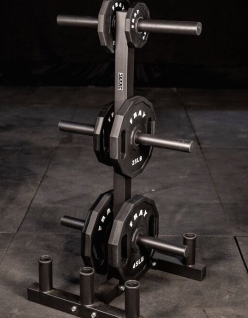 Olympic Plate And Bumper Weight Tree With 6 Bar Holder