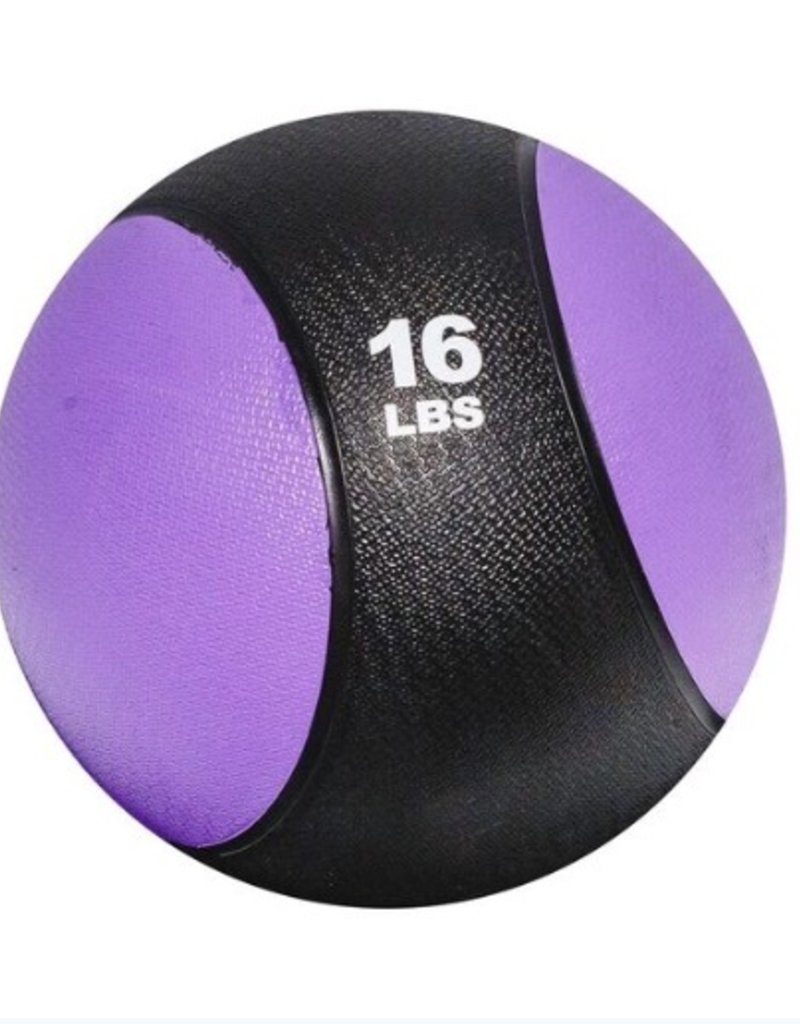 Rubber Medicine Ball - 16 lb