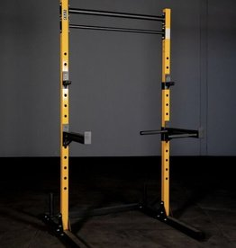 FSS4 Squat Rack Stand Yellow And Black