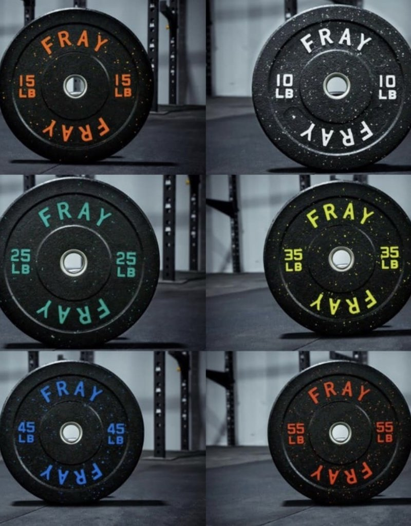 1000LB Fray Crumb Rubber Bumper Plate Set