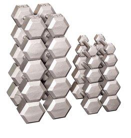 10-50 Cast Iron Hexhead Dumbbell Complete Set