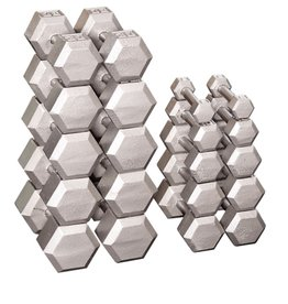 5-50 Cast Iron Hexhead Dumbbell Complete Set