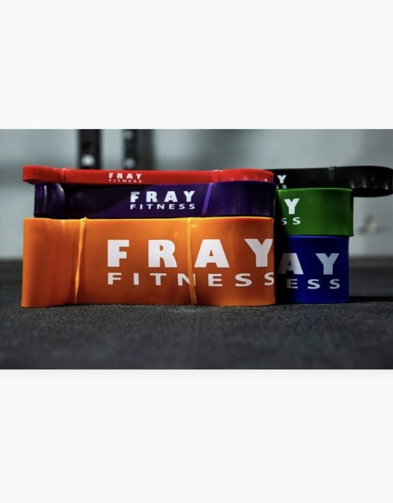 6 Pack Of Latex Resistance Pull-Up Bands (1 Of Each)