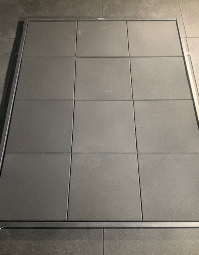 Full Deadlift Platform With 12 Rubber Tiles Included