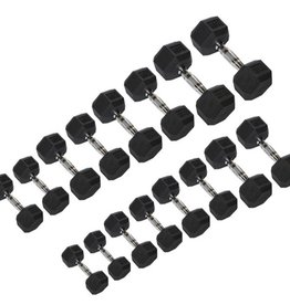 5-100 Rubber Dumbbell Set