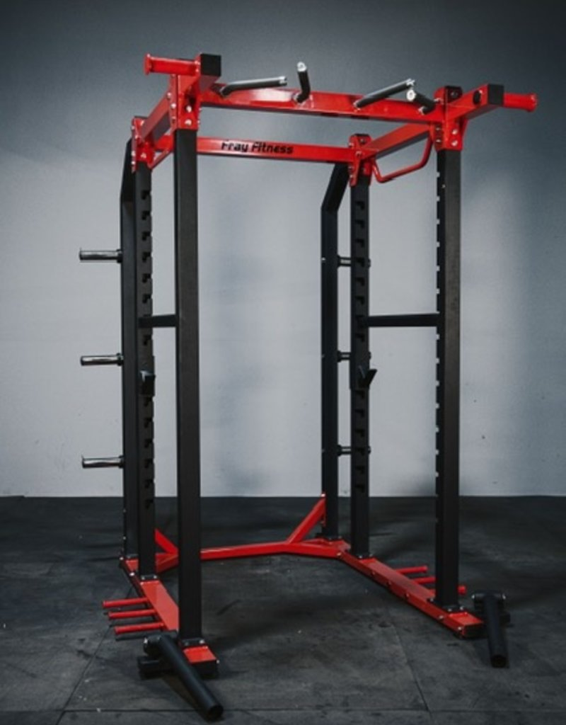 FHD6 Power Rack Red And Black With Dual Landmines