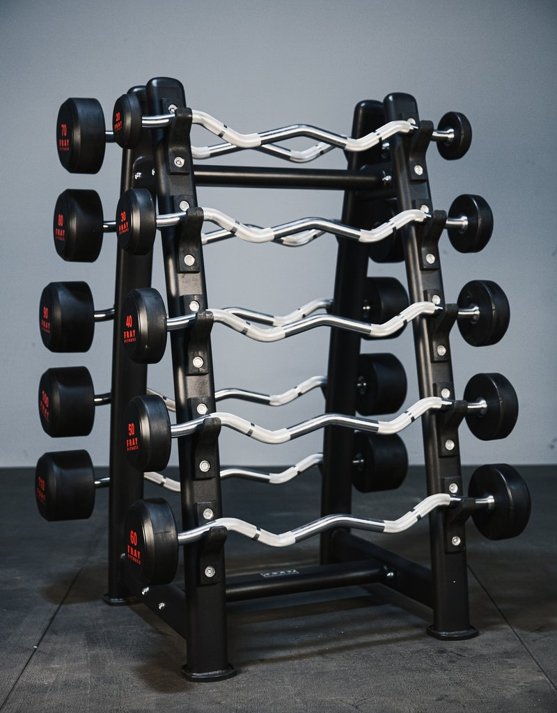 Rubber Curl Fixed Barbell Complete Set 20-110