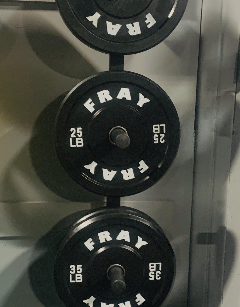 Fray Rubber Bumper Plate 260 Pound Set