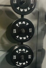 Fray Rubber Bumper Plate 160 Pound Set