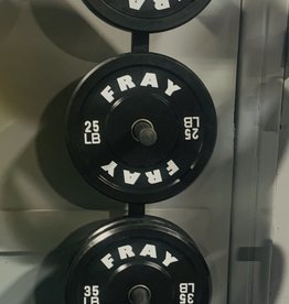 Fray Rubber Bumper Plate 160 Pound Set